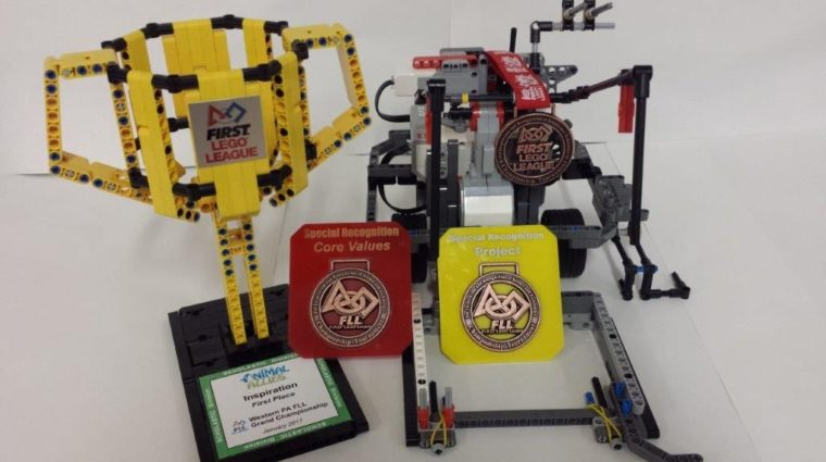 2016 Western PA First Lego League Robotics Grand Championship Yough Middle School YWCA TechGYRLS team took first place for FLL Core Values and Inspiration.