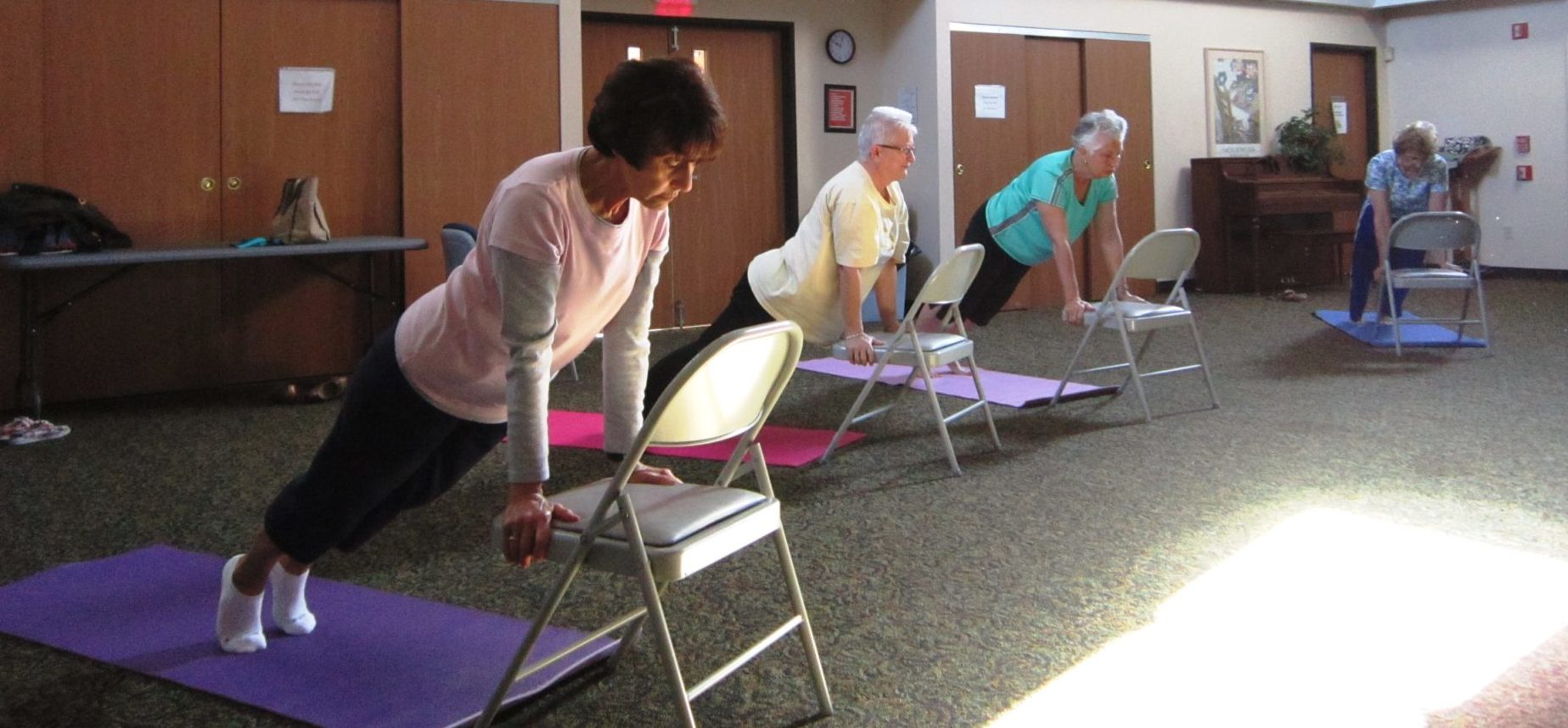 Students participate in wellness class at the YWCA Westmoreland County.
